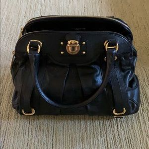 Marc Jacobs Black/Gold Leather Satchel